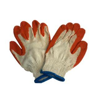 🚚 Rubber coated Cotton glove w/ palm grip