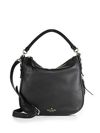 Kate Spade Black Leather Cobble Hill Ella Convertable Crossbody Bag