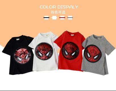 ❗INSTOCK❗Reversible Sequin Captain America & Spiderman