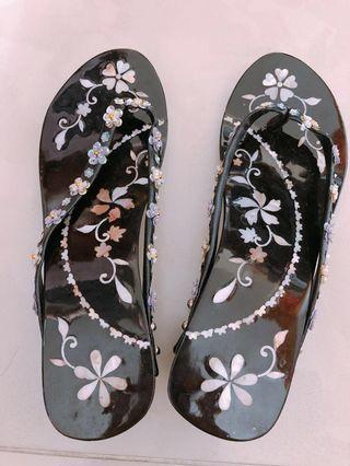 越南古典手工木履