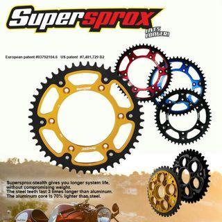 Instock Supersprox sprocket for selected models