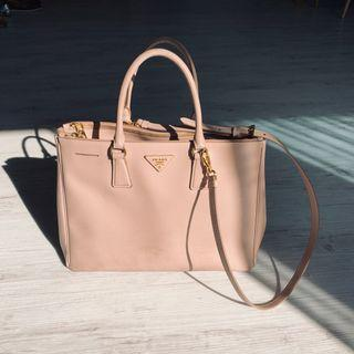STEAL!! Prada Saffiano Double Zip Large Tote