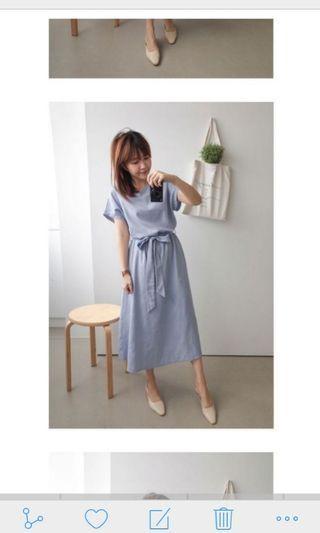 🚚 藍色氣質洋裝