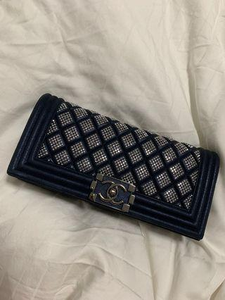 Chanel diamanté clutch