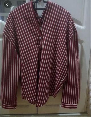 Stripe shirt red n white