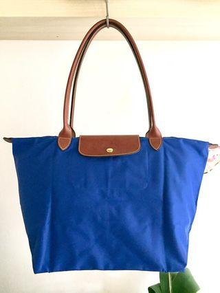 Authentic Longchamp Le Pliage Classic Long Handle Large Size