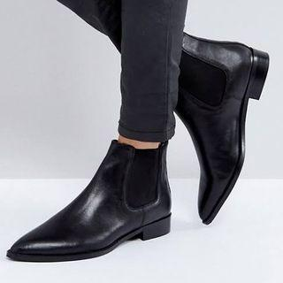 ASOS Automatic Leather Ankle Boots