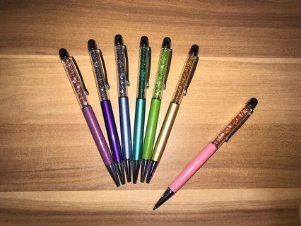 靚靚金屬筆筒、重身原子筆