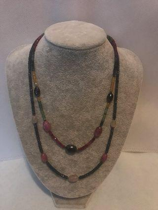 Ruby Sapphire necklaces