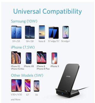 BN Anker 7.5w 10w powerwave stand wireless charger