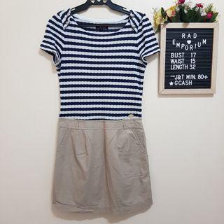 Eland stripes and chambray maong dress