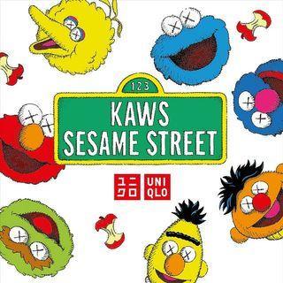 Kaws x Uniqlo x Sesame Street 芝麻街 全新 正版 三方聯乘 已絕版