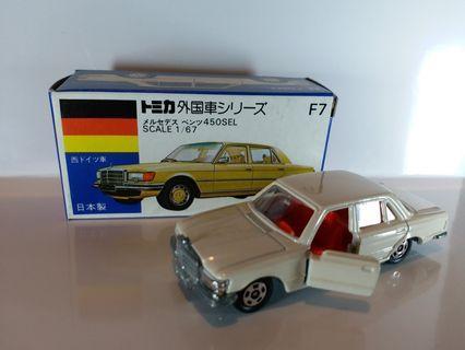 Tomy Tomica ~ F.7 MERCEDES BENZ 平治 ~ 1976 年生產 MADE IN JAPAN 日本制,NEW OLD STOCK, 全新庫存品, 零瑕疵