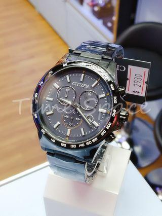 CITIZEN Eco-Drive CHRONOGRAPH SAPPHIRE CRYSTAL AT2425-80H (光動能)