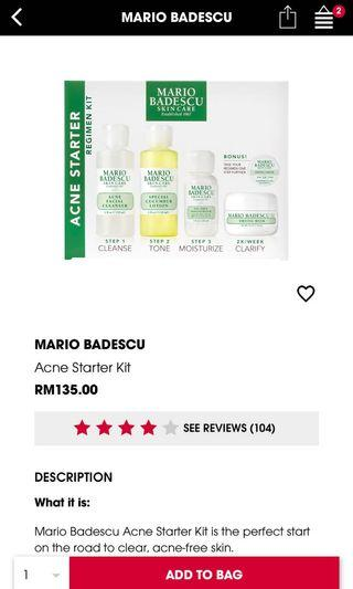 Mario Badescu Acne starter Kit barely used
