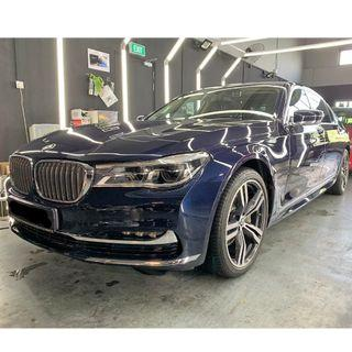 BMW 740i protected by Tacsystem Power Plus Quartz Coating