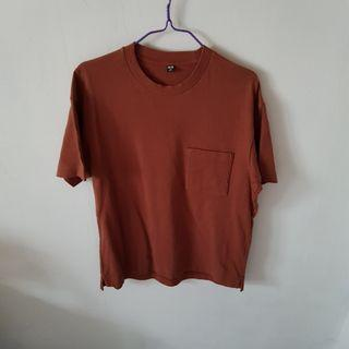 Uniqlo Brown Tee with Pocket