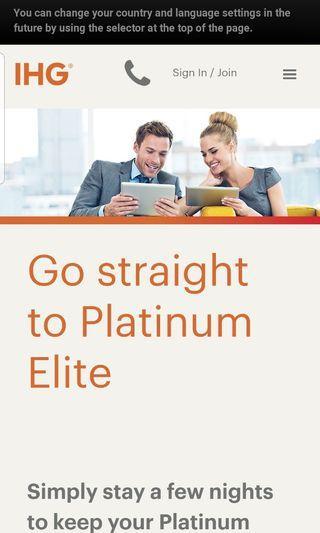 FREE  IHG  Rewards Club Instant Platinum