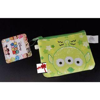【現貨】Disney TsumTsum(三眼仔)閃粉大頭萬用零錢/票卡/證件包
