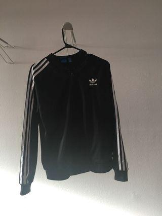 Adidas! Zip up sweater. Size L but fits small