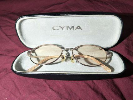 CYMA GLASSES RARE VINTAGE LADIES JAPAN CM219KT TITANIUM SUN