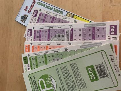 Parking coupons worth $64