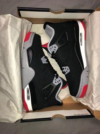 2019 AIR JORDAN BRED 4s (DEADSTOCK)