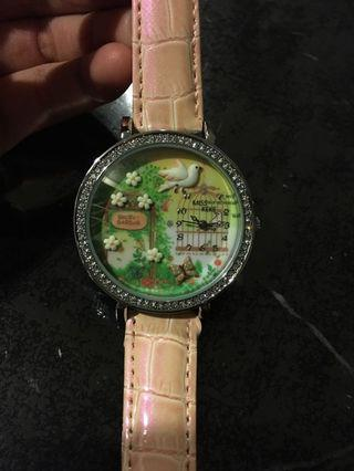 3D clay resin mini world watch dial