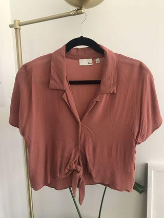 Wilfred Free Tie-Front Blouse (Size Small)