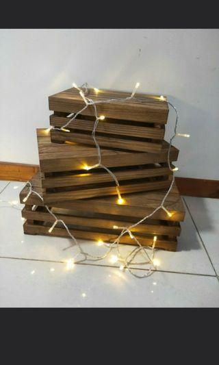 Wooden crates deco for rent
