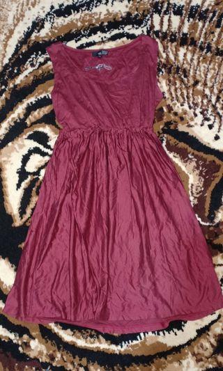 Maroon bloop dress