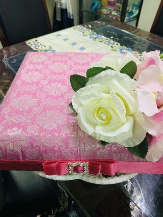 🚚 Dulang Hantaran Songket - Pink