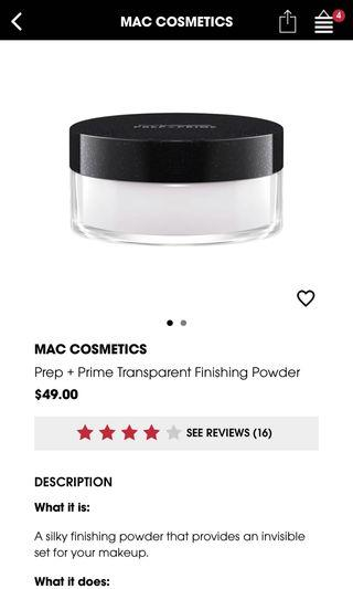 BNIP MAC Prep+Prime Finishing Powder