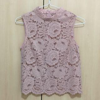 BN Lovely Blush Pink Lace Top