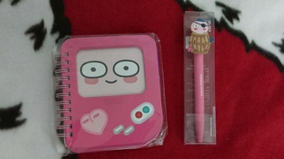 (大清貨) apeach mini notebook/ gel pen