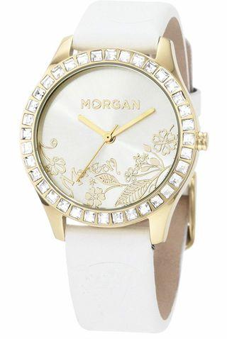 ⌚️NEW -  Morgan Analog White Dial Women's Watch ⬅️只限順豐,運費到付