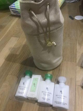 Bvlgari gift set with pouch