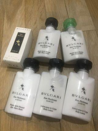Bvlgari man after shave balm parfume body lotion