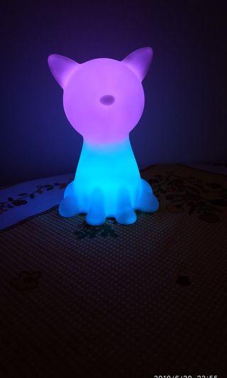 LED cat desk night light (7 color change)