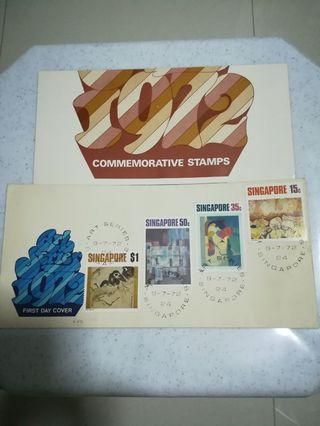 🚚 First day covers, art series 1972 commemorative stamps