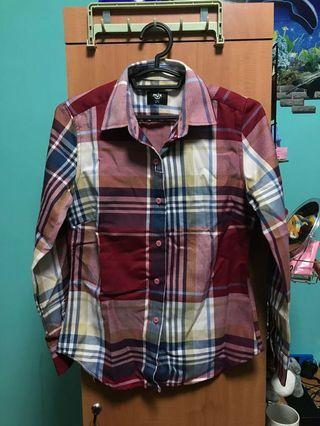 Plaid / Funnel Top / Outerwear