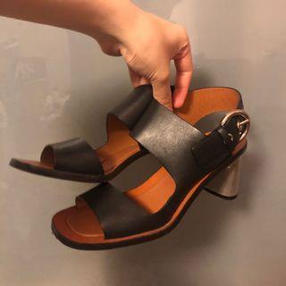 CÉLINE #oldceline 黑色高跟涼鞋