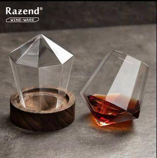 Creative tumbler red wine glass crystal hand glass wine glass white wine glass whiskey cup goblet•wain kaca