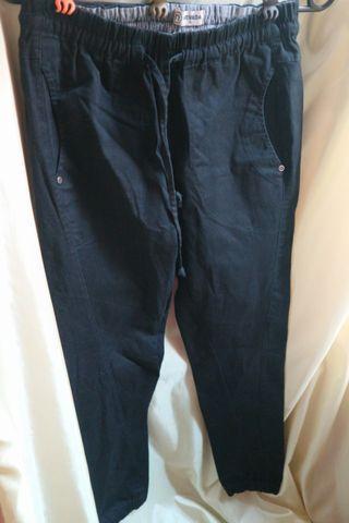 Nevada black jogger (bahan semi jeans)