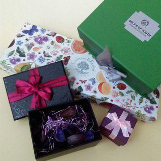 二手緞帶蝴蝶結優質禮品禮物🎁空盒共4件