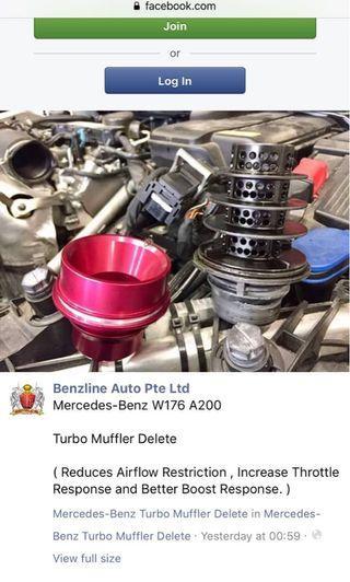 MACH5 turbo muffler delete for Mercedes W176 C117