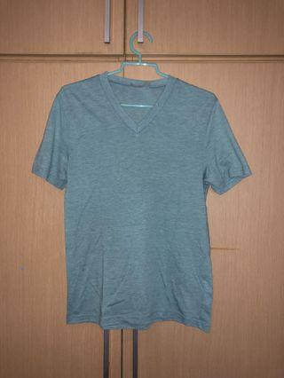 Topman Teal V Neck T Shirt