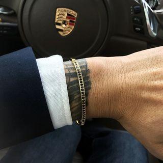 4 Colours Pave Setting Zircon Viking Fashion Men Bracelet Fashion Jewelry