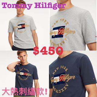 Tommy Hilfiger men T-shirt tee tshirt 男裝刺繡t恤