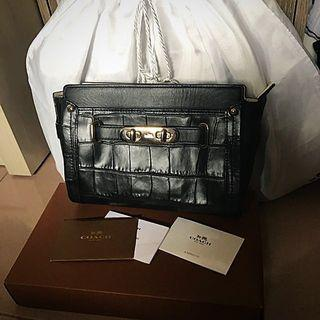 Preloved Coach Swagger Croc Embossed Wristlets
